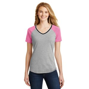Juniors Mesh Sleeve V Neck Thumbnail