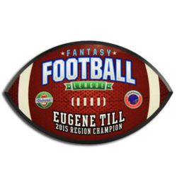 Football Plaque Thumbnail