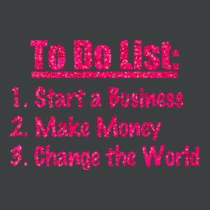 To Do List - Ladies Tri-Blend T Design