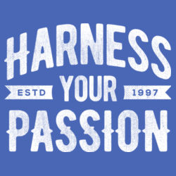 Harness Your Passion - Ladies Tri-Blend V-Neck T Design