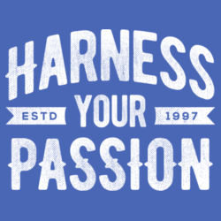 Harness Your Passion - Ladies Tri-Blend Racerback Tank Design