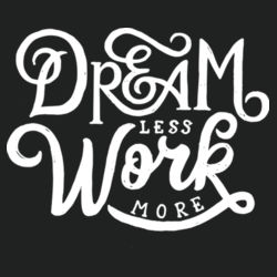 Dream Less Work More - Lace Hooded Sweatshirt Design