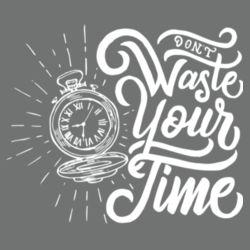 Don't Waste Your Time - Ladies Tri-Blend V-Neck T Design