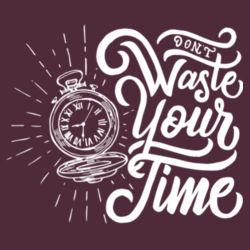 Don't Waste Your Time - Adult Colorblock Sweatshirt Design