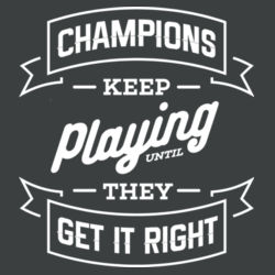 Champions Keep Playing - Ladies Tri-Blend V-Neck T Design