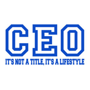 CEO Blue - 12 x 12 Wall Decal Design