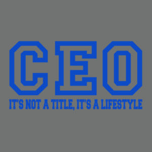 CEO - Adult Tri-Blend Long Sleeve T Design