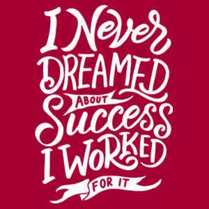 I Never Dreamed About Success - Lace Hooded Sweatshirt Design