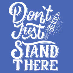 Don't Just Stand There - Ladies Tri-Blend 3/4 Sleeve T Design