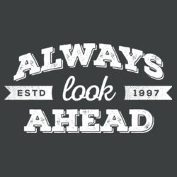 Always Look Ahead - Ladies Tri-Blend Long Sleeve Hoodie Design