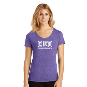 CEO - Ladies Tri-Blend V-Neck T Thumbnail