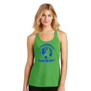 Change the World - Ladies Gathered Racerback Tank Thumbnail