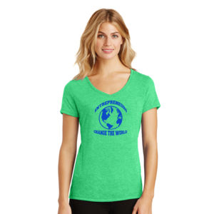 Change the World - Ladies Tri-Blend V-Neck T Thumbnail