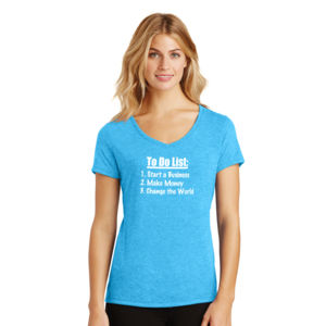 To Do List - Ladies Tri-Blend V-Neck T Thumbnail