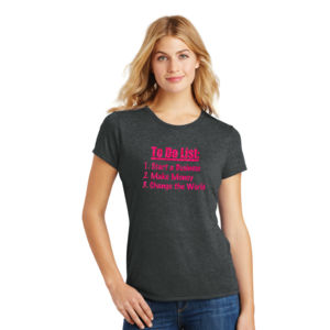 To Do List - Ladies Tri-Blend T Thumbnail