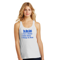 To Do List - Ladies Gathered Racerback Tank Thumbnail