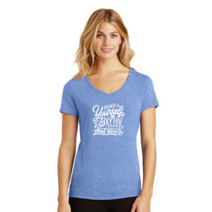 Make Yourself Better - Ladies Tri-Blend V-Neck T Thumbnail
