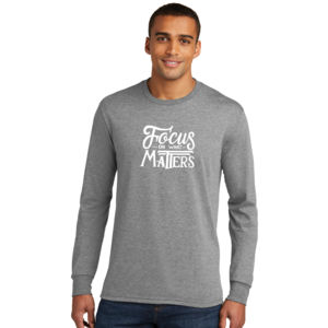 Focus on What Matters - Adult Tri-Blend Long Sleeve T Thumbnail
