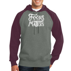 Focus on What Matters - Adult Colorblock Sweatshirt Thumbnail