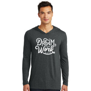 Dream Less Work More - Adult Tri-Blend Long Sleeve Hoodie Thumbnail
