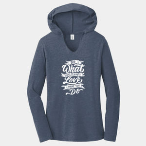 Do What You Love - Ladies Tri-Blend Long Sleeve Hoodie Thumbnail