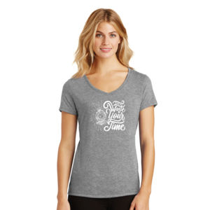 Don't Waste Your Time - Ladies Tri-Blend V-Neck T Thumbnail