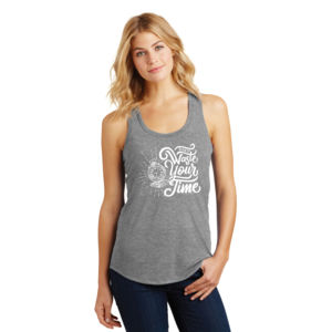 Don't Waste Your Time - Ladies Tri-Blend Racerback Tank Thumbnail