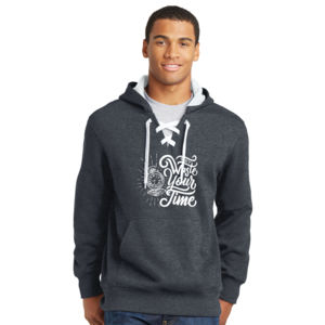 Don't Waste Your Time - Lace Hooded Sweatshirt Thumbnail