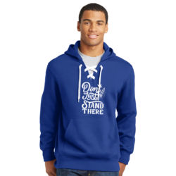 Don't Just Stand There - Lace Hooded Sweatshirt Thumbnail