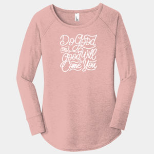 Do Good And Good Will Come to You - Ladies Long Sleeve Tri Blend T Thumbnail