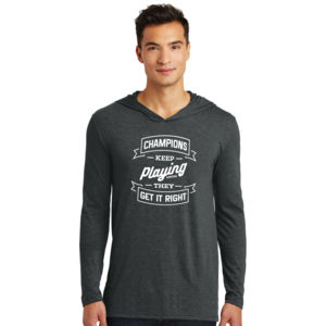 Champions Keep Playing - Adult Tri-Blend Long Sleeve Hoodie Thumbnail