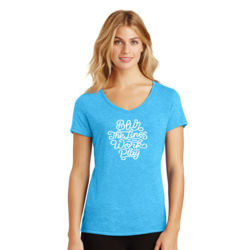 Blur the Lines - Ladies Tri-Blend V-Neck T Thumbnail