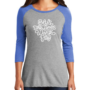 Blur the Lines - Ladies Tri-Blend 3/4 Sleeve T Thumbnail