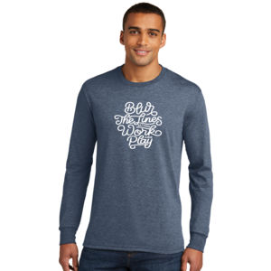 Blur the Lines - Adult Tri-Blend Long Sleeve T Thumbnail