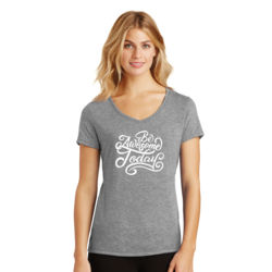 Be Awesome Today - Ladies Tri-Blend V-Neck T Thumbnail