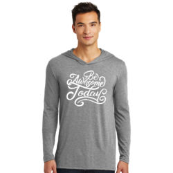 Be Awesome Today - Adult Tri-Blend Long Sleeve Hoodie Thumbnail