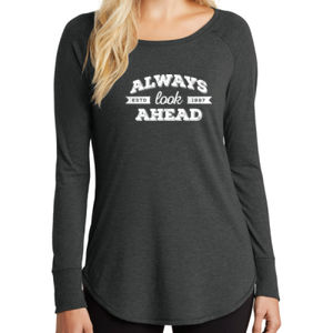 Always Look Ahead - Ladies Long Sleeve Tri Blend T Thumbnail