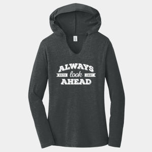 Always Look Ahead - Ladies Tri-Blend Long Sleeve Hoodie Thumbnail