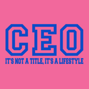 CEO - Ladies Tri-Blend T Design