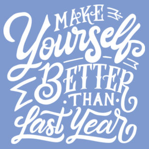 Make Yourself Better - Ladies Tri-Blend V-Neck T Design