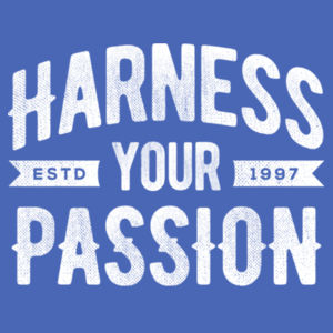 Harness Your Passion - Ladies Tri-Blend 3/4 Sleeve T Design