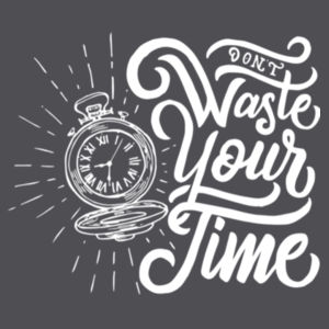 Don't Waste Your Time - Lace Hooded Sweatshirt Design