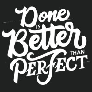 Done Is Better Than Perfect - Lace Hooded Sweatshirt Design
